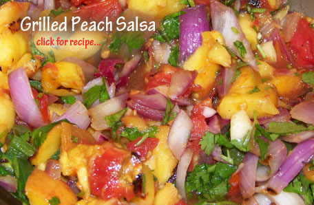 Grilled Peach Salsa