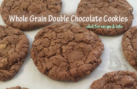Double Chocolate Chip Cookies with whole grain WonderFlour