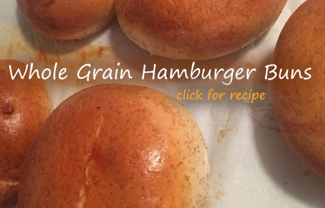 Homemade Whole Grain Hamburger Buns recipe