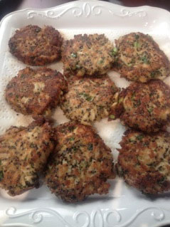 Black Quinoa Crab Cakes