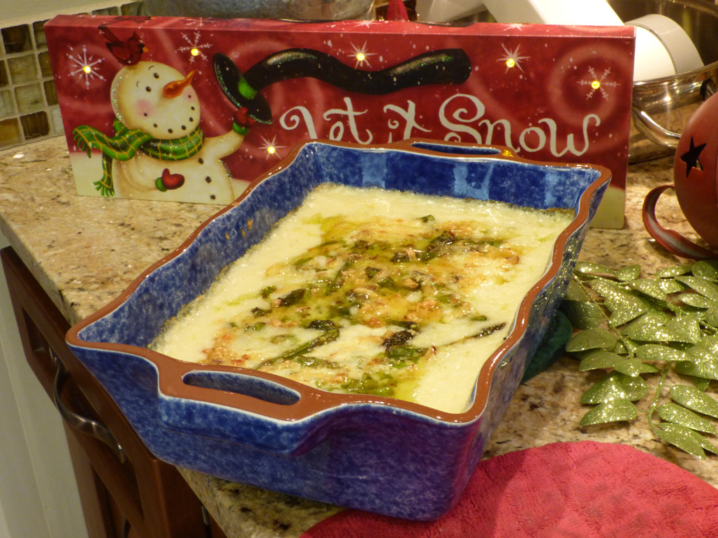 Creamy Grits with Asparagus