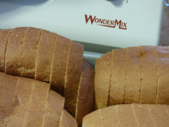 Sliced homade bread