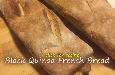 Black Quinoa French Bread recipe