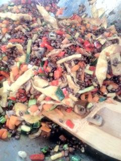 Black Barley Ginger Orange Salad