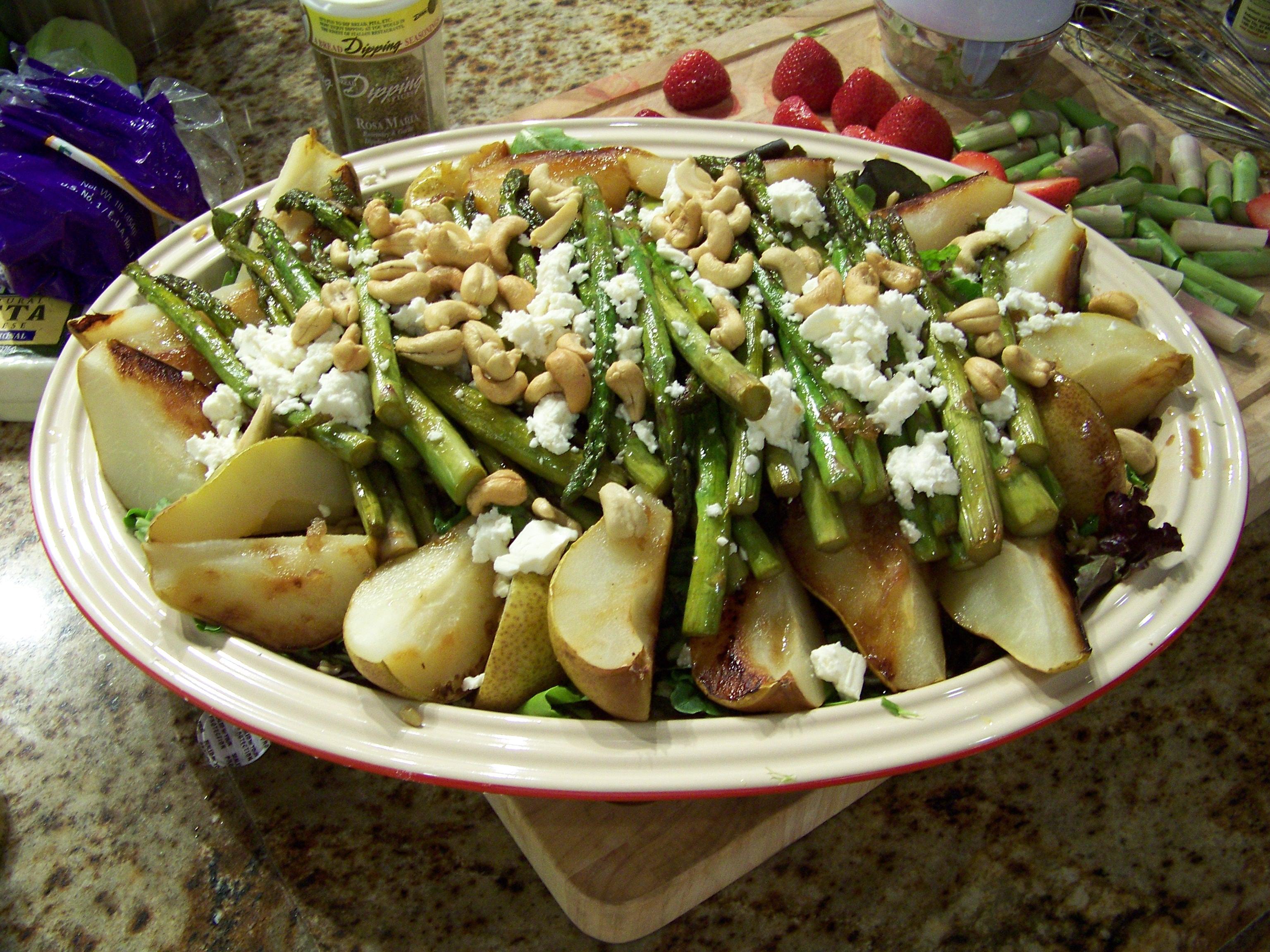 Roasted Pear and Kamut Salad