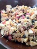 Sprouted Barley Breakfast Salad